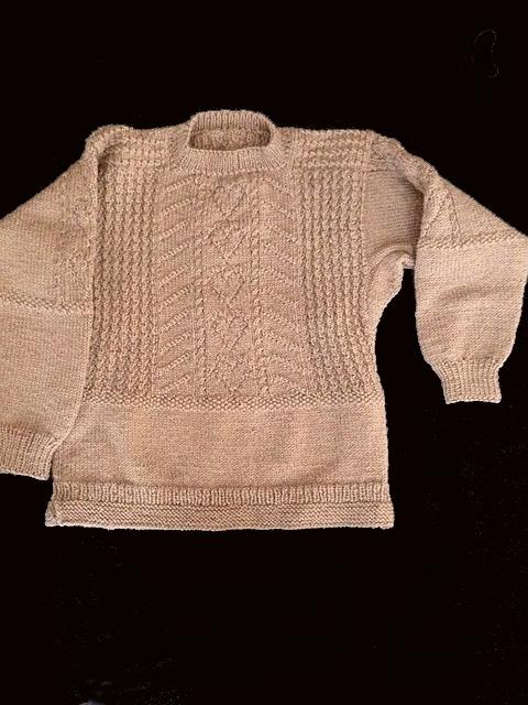 Knitting Pattern Gansey Sweater : Chelseas Heart Gansey - Knitting Traditions