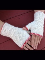 Twined Fingerless Mitts WS