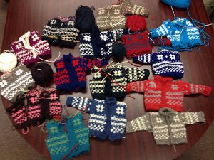My students' work in the Norwegian Fana Cardigan class!