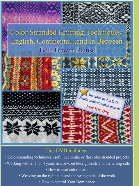 Knitting Styles English : Color stranded knitting techniques digital dvd